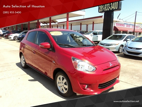 2015 Mitsubishi Mirage for sale at Auto Selection of Houston in Houston TX
