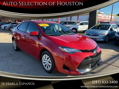 2017 Toyota Corolla for sale at Auto Selection of Houston in Houston TX
