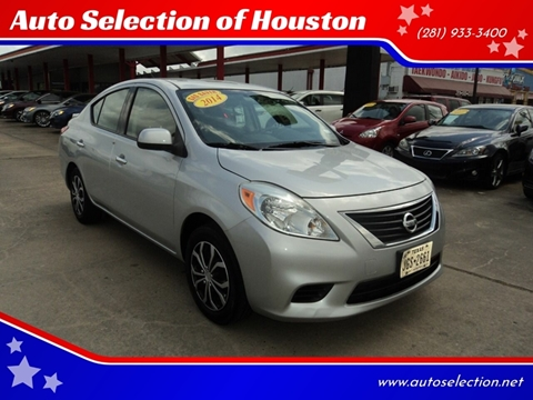 2014 Nissan Versa for sale at Auto Selection of Houston in Houston TX