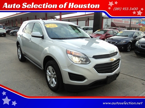 2016 Chevrolet Equinox for sale at Auto Selection of Houston in Houston TX