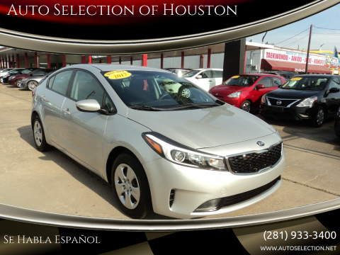 2017 Kia Forte for sale at Auto Selection of Houston in Houston TX