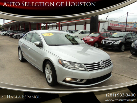 2015 Volkswagen CC for sale at Auto Selection of Houston in Houston TX