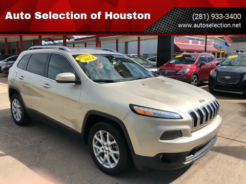 2014 Jeep Cherokee for sale at Auto Selection of Houston in Houston TX