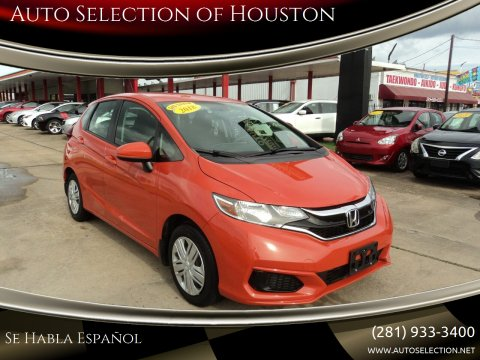 2018 Honda Fit for sale at Auto Selection of Houston in Houston TX