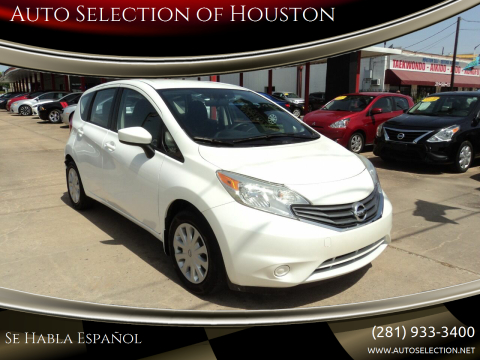 2015 Nissan Versa Note for sale at Auto Selection of Houston in Houston TX