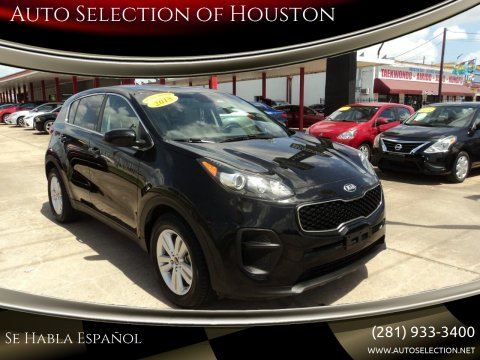 2018 Kia Sportage for sale at Auto Selection of Houston in Houston TX