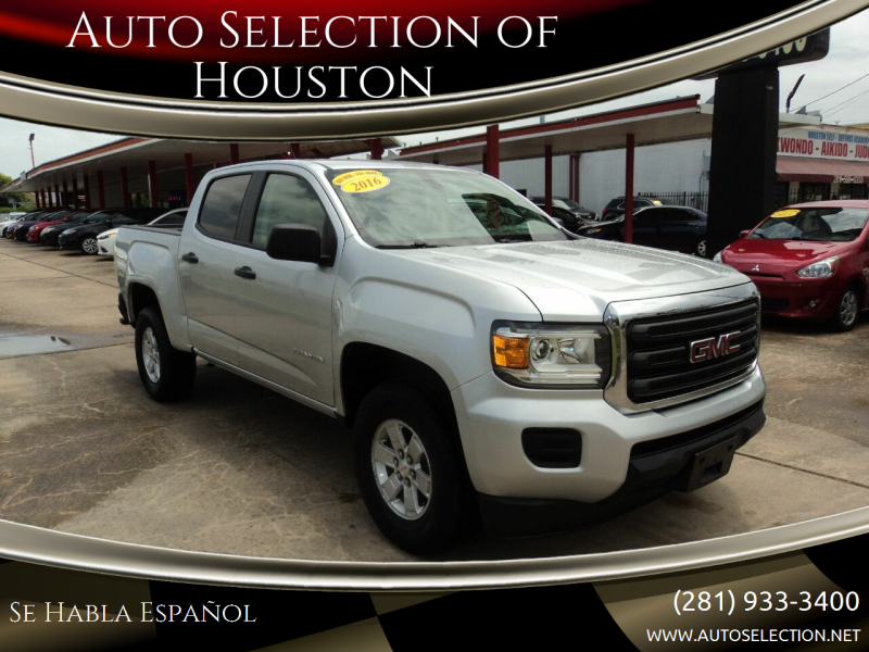 2016 GMC Canyon for sale at Auto Selection of Houston in Houston TX