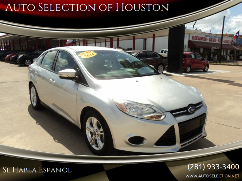 2014 Ford Focus for sale at Auto Selection of Houston in Houston TX