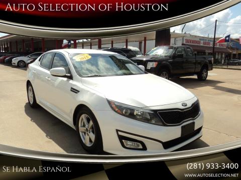 2015 Kia Optima for sale at Auto Selection of Houston in Houston TX