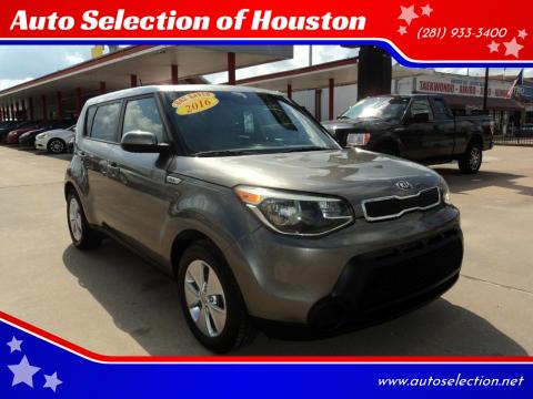 2016 Kia Soul for sale at Auto Selection of Houston in Houston TX