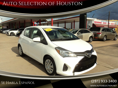 2017 Toyota Yaris for sale at Auto Selection of Houston in Houston TX