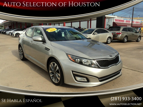 2015 Kia Optima for sale at Auto Selection of Houston in Houston TX