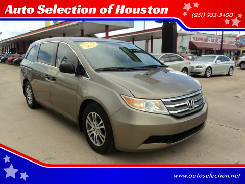 2013 Honda Odyssey for sale at Auto Selection of Houston in Houston TX