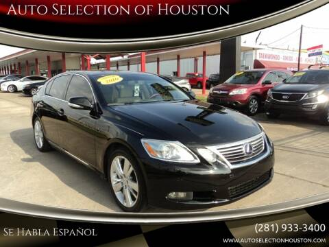 2010 Lexus GS 450h for sale at Auto Selection of Houston in Houston TX