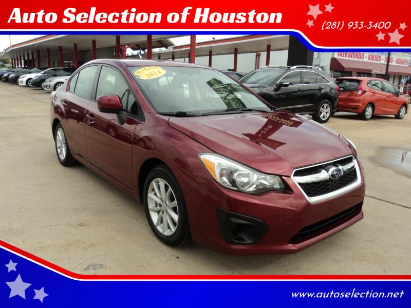 2014 Subaru Impreza for sale at Auto Selection of Houston in Houston TX