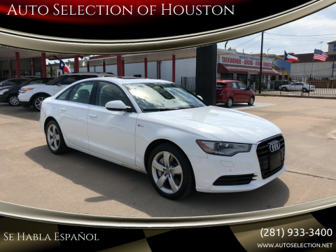 2012 Audi A6 for sale at Auto Selection of Houston in Houston TX