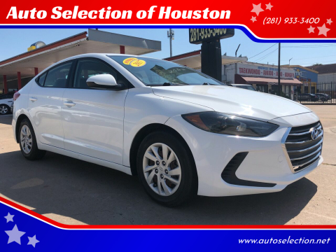 2017 Hyundai Elantra for sale at Auto Selection of Houston in Houston TX