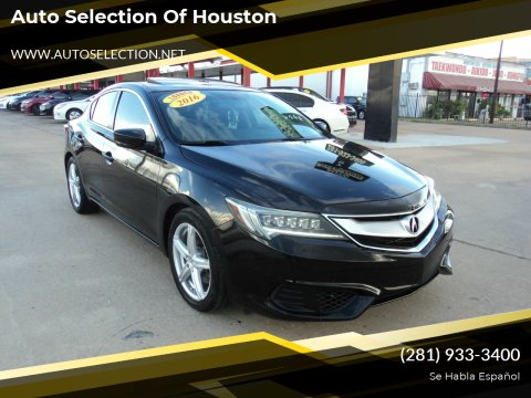 2016 Acura ILX for sale at Auto Selection of Houston in Houston TX