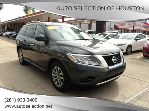 2014 Nissan Pathfinder for sale at Auto Selection of Houston in Houston TX