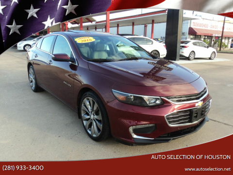 2016 Chevrolet Malibu for sale at Auto Selection of Houston in Houston TX