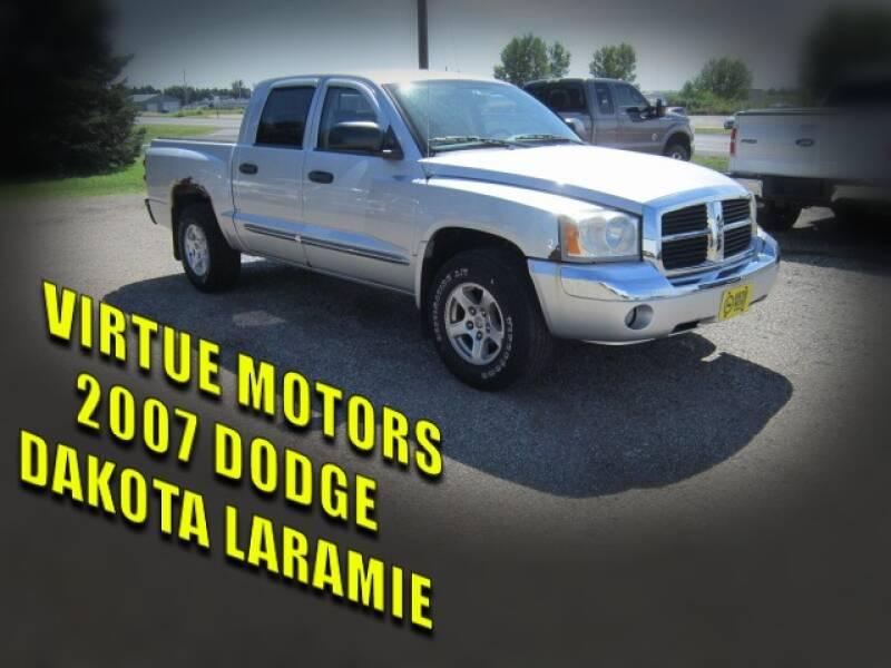 2007 Dodge Dakota for sale at Virtue Motors in Darlington WI