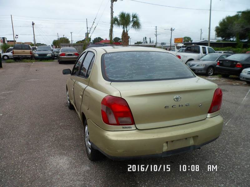 2001 Toyota ECHO for sale at Fett Motors INC in Pinellas Park FL
