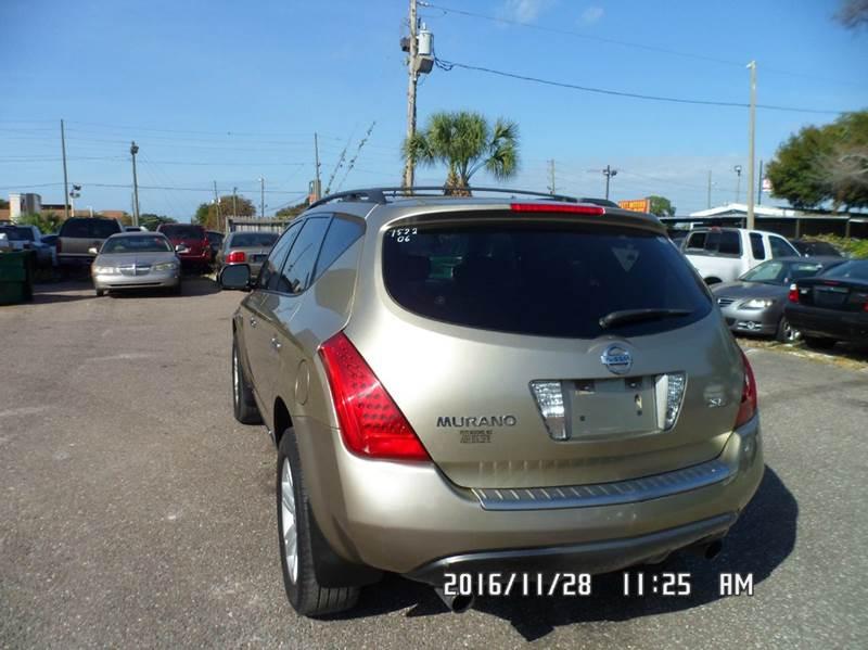 2006 Nissan Murano for sale at Fett Motors INC in Pinellas Park FL