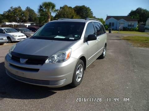 2004 Toyota Sienna for sale at Fett Motors INC in Pinellas Park FL