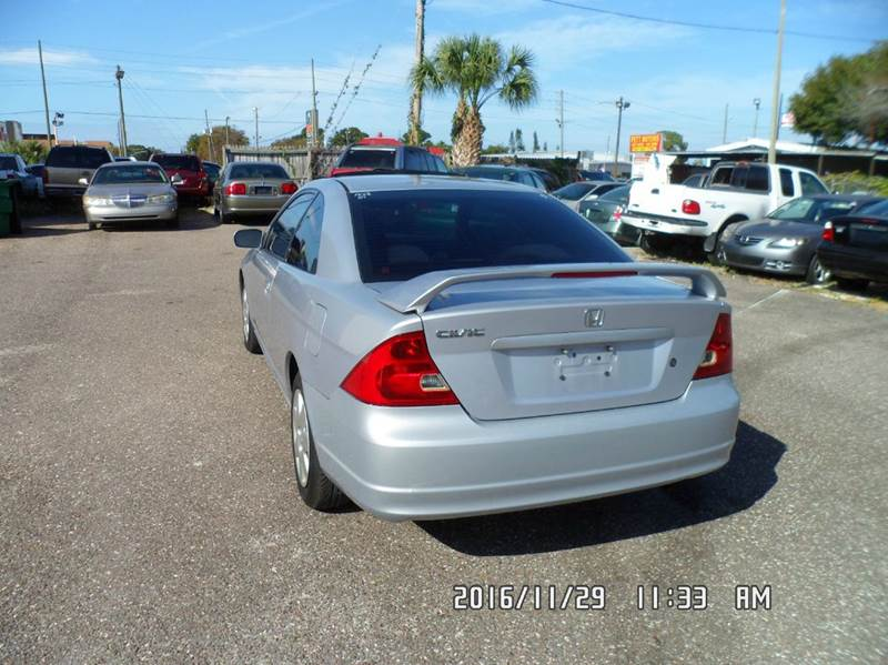 2001 Honda Civic for sale at Fett Motors INC in Pinellas Park FL