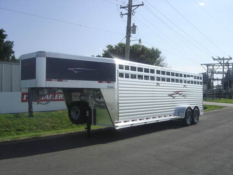 """2017 6'8"""" x 24 FT TRAVLUM STOCK for sale at Midwest Trailer Sales & Service in Agra KS"""