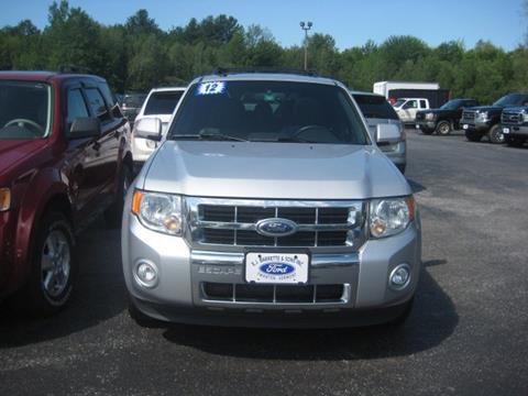 2012 Ford Escape for sale in Swanton, VT