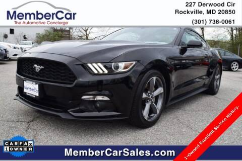 2016 Ford Mustang V6 for sale at MemberCar in Rockville MD