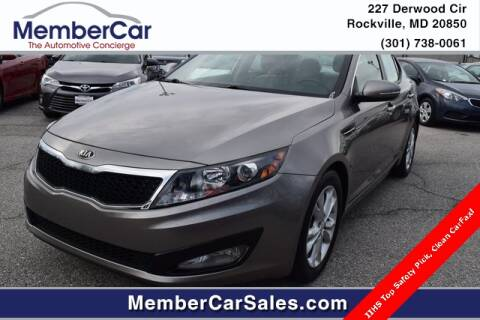 2013 Kia Optima EX for sale at MemberCar in Rockville MD