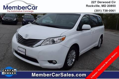 2013 Toyota Sienna for sale at MemberCar in Rockville MD