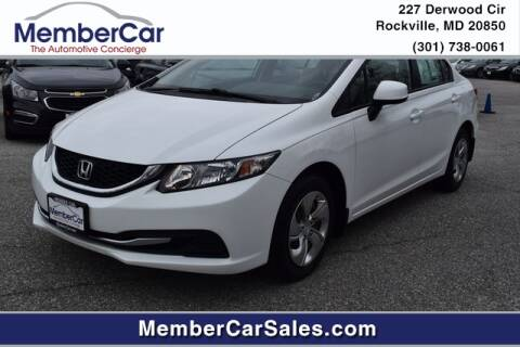 2013 Honda Civic LX for sale at MemberCar in Rockville MD