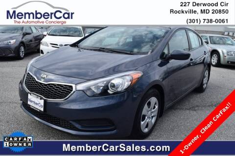 2016 Kia Forte LX for sale at MemberCar in Rockville MD