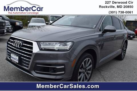 2017 Audi Q7 3.0T quattro Premium Plus for sale at MemberCar in Rockville MD