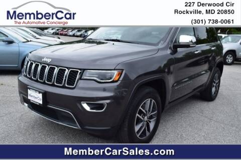 2017 Jeep Grand Cherokee for sale at MemberCar in Rockville MD