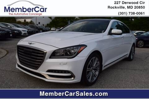 2018 Genesis G80 for sale at MemberCar in Rockville MD
