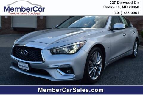 2019 Infiniti Q50 for sale at MemberCar in Rockville MD