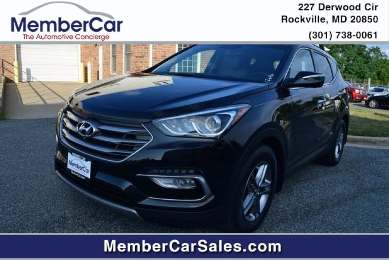 2017 Hyundai Santa Fe Sport for sale at MemberCar in Rockville MD