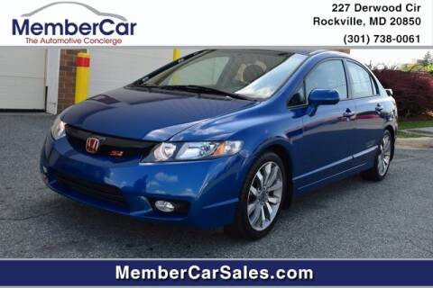 2009 Honda Civic for sale at MemberCar in Rockville MD