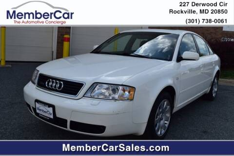 1999 Audi A6 for sale at MemberCar in Rockville MD