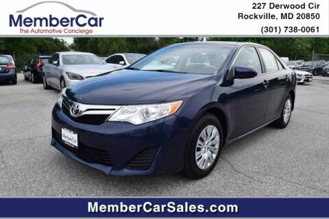 2014 Toyota Camry for sale at MemberCar in Rockville MD