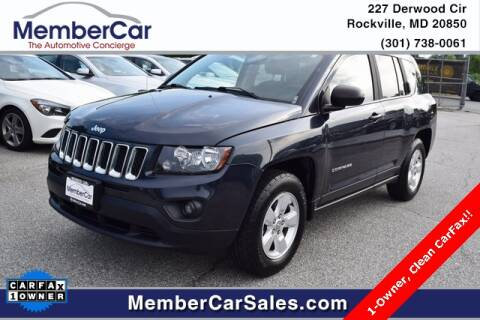 2014 Jeep Compass for sale at MemberCar in Rockville MD