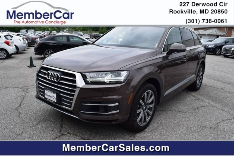 2018 Audi Q7 for sale at MemberCar in Rockville MD