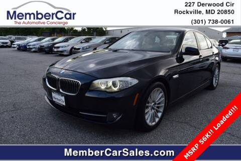 2011 BMW 5 Series for sale at MemberCar in Rockville MD