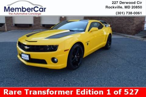2012 Chevrolet Camaro for sale at MemberCar in Rockville MD