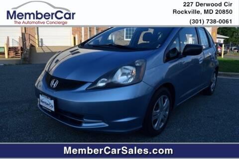 2011 Honda Fit for sale at MemberCar in Rockville MD