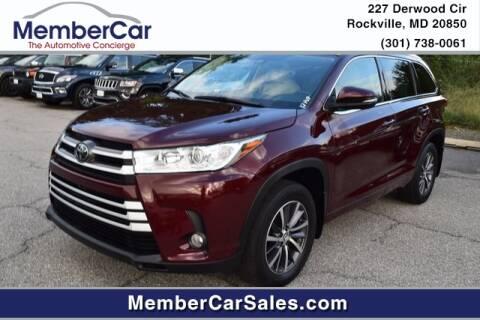 2017 Toyota Highlander for sale at MemberCar in Rockville MD